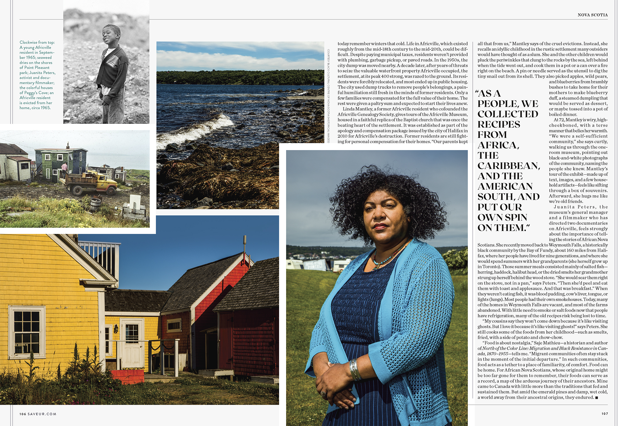 African Nova Scotian Cooking for Saveur Magazine