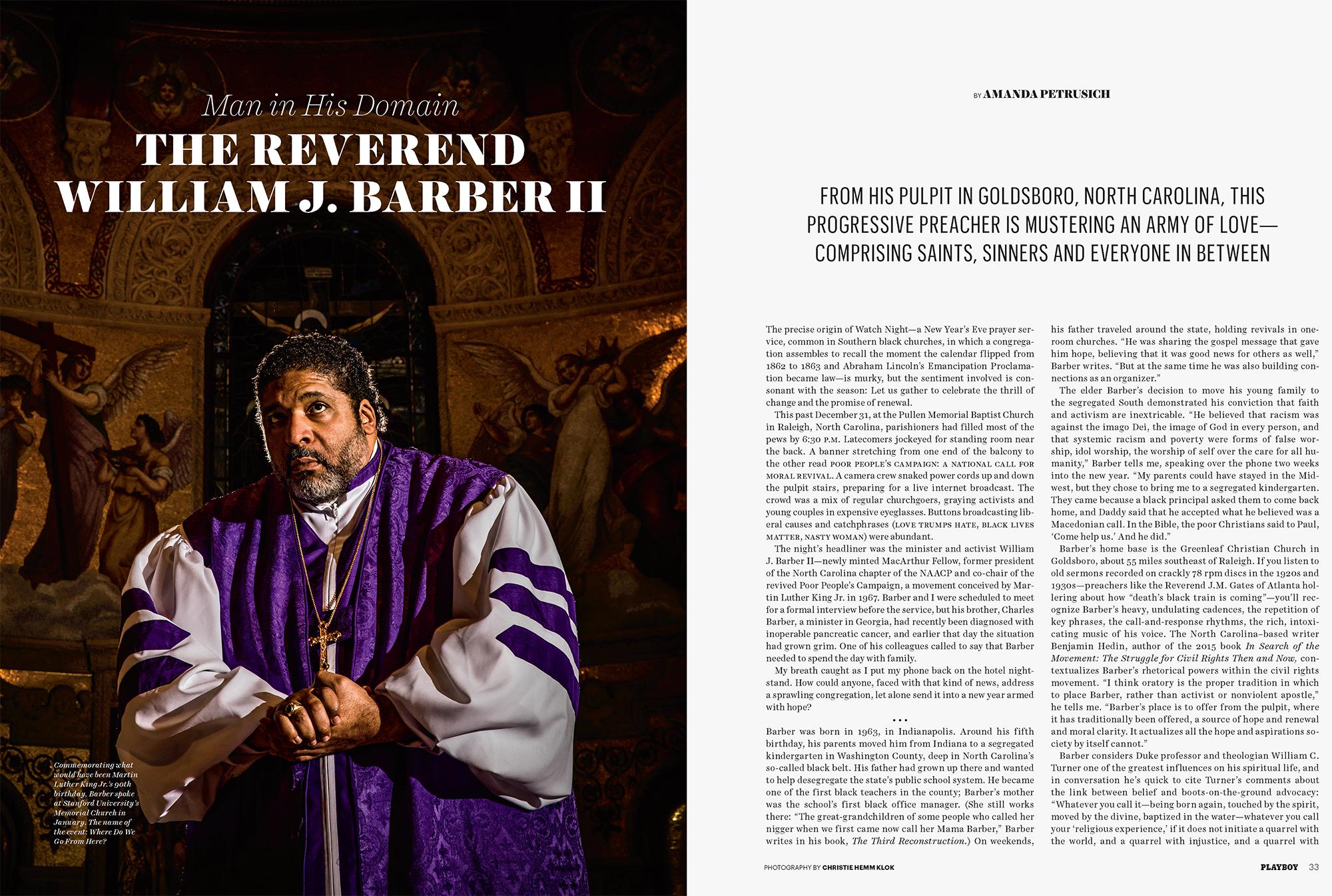 Reverend Barber for Playboy