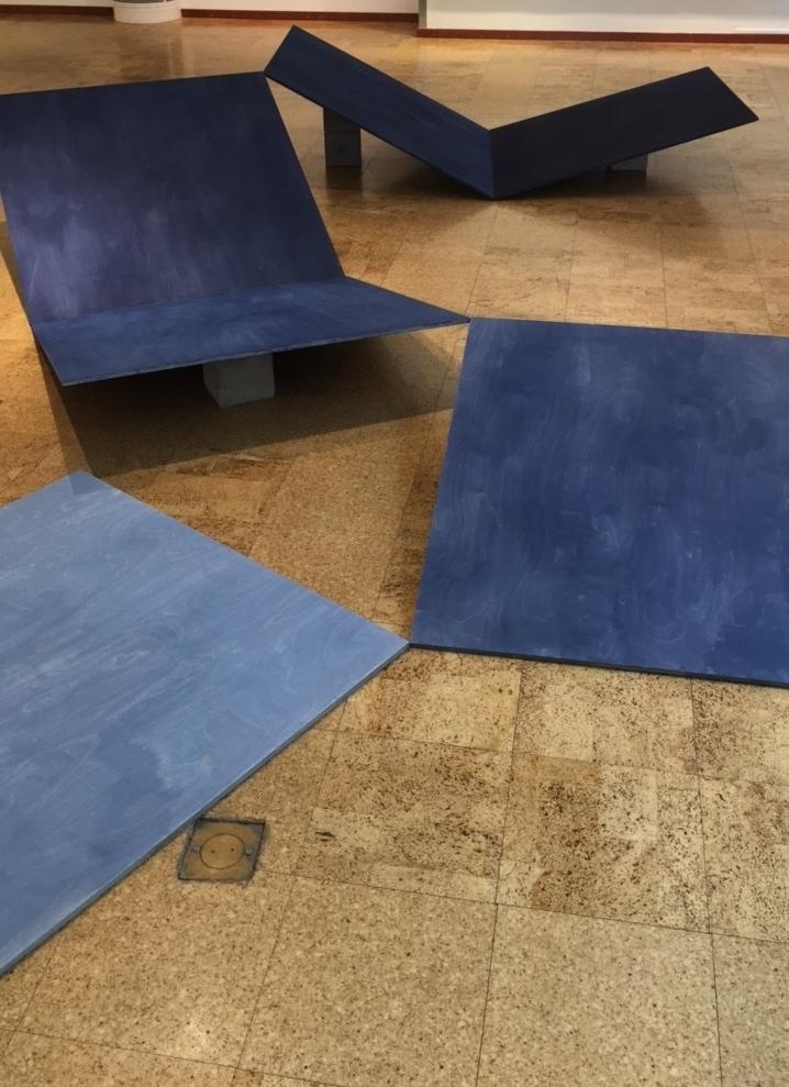 Lager tid, wood, paint, concrete, Kalix konsthall, 2017