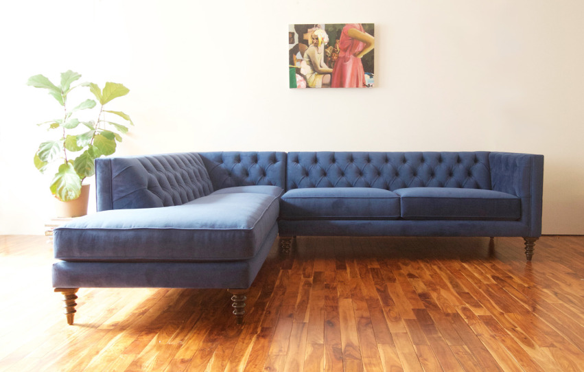 The Chelsea Sectional   Bumper Ottoman