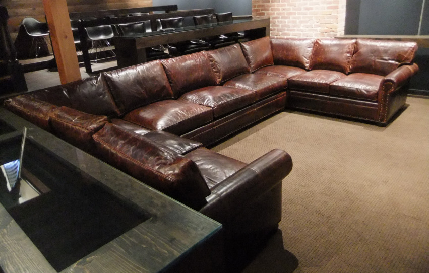 The Hemingway Sectional | Leather