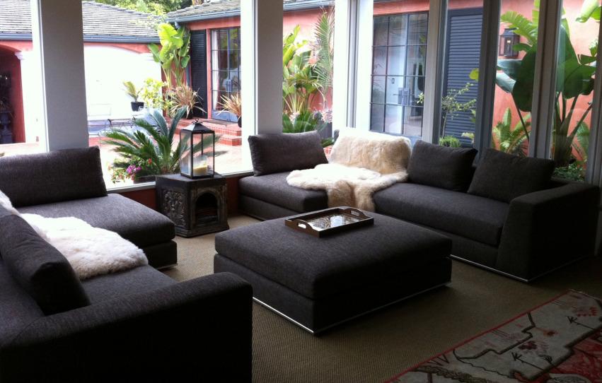 The Hamilton Sofa-chaise + Ottoman