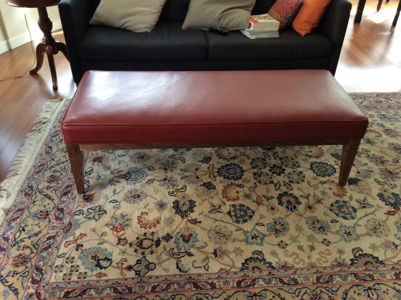 The Bench Ottoman   Leather