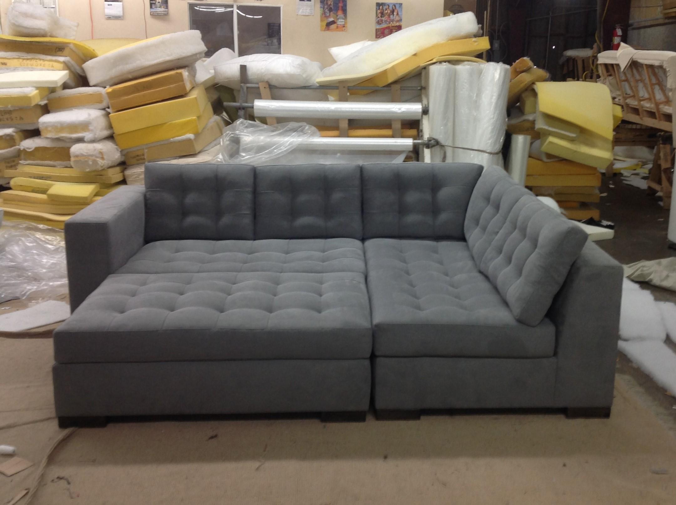 The Calvin Sectional + Ottoman | Modular Bed