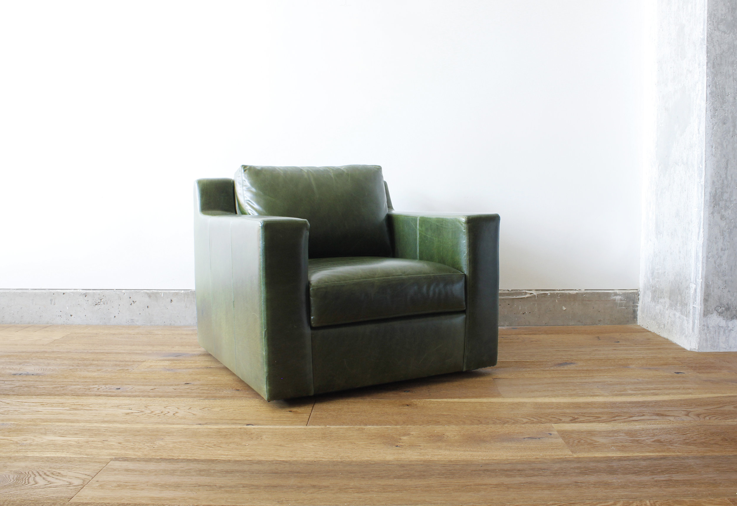 The Collins Chair | Leather, Swivel