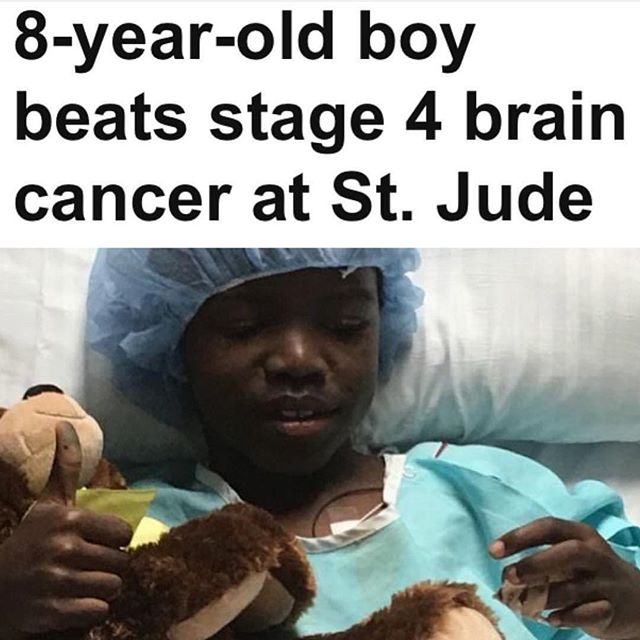 This made us smile! 💛✨🙌🏽🙏🏽 via @ronniesidneyii @stjude #miracleshappen