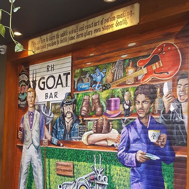 Competition time friends! First person to guess all the new mural refs will win a $50 bar voucher. Go! #goatbar #mural #artattack