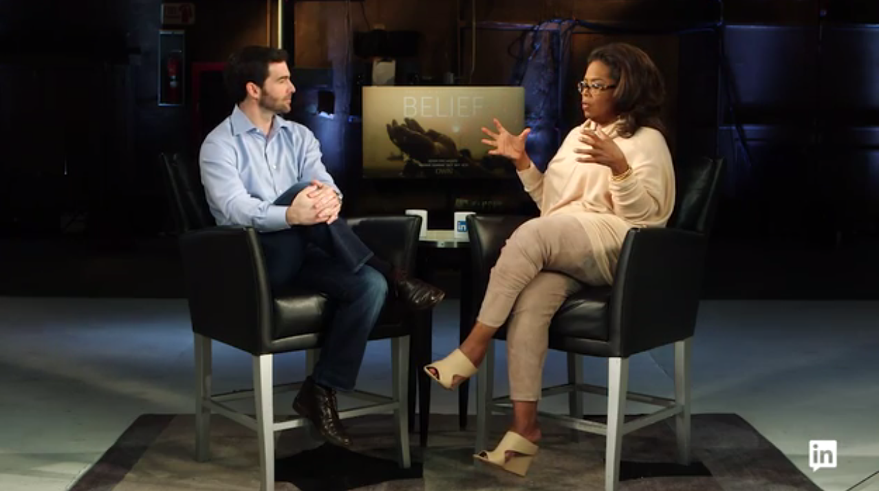 LINKEDIN CEO Jeff Weiner sits down in a multi-part interview with Oprah Winfrey in an authentic dive into her experience with the power of intention, not taking no for an answer, and the power of the little failures in life.