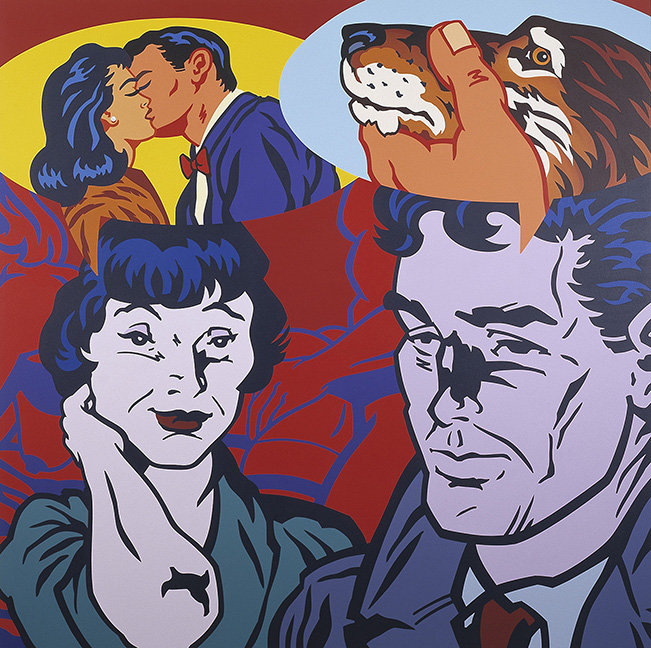 """Kevin T. Kelly's """"Modern Romance"""" (2001) hints at levels of truth between the sexes."""