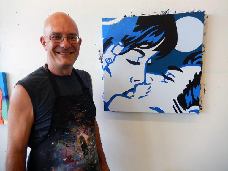 Artist Kevin T. Kelly in his studio.