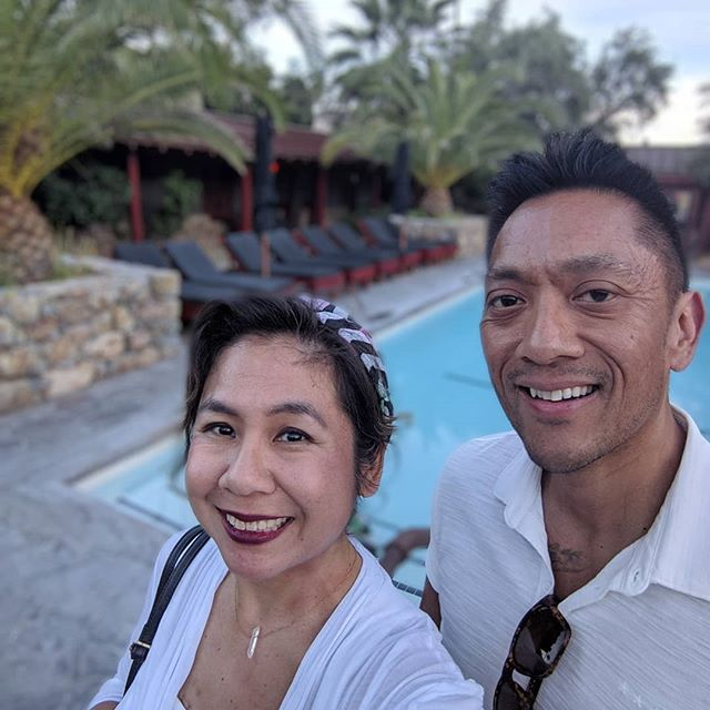 Highlight of our weekend. Intimate chef supper. Yum! We were on the wait list and found out the day of. 😅 #palmsprings #weekendgetaway #miniescape #sparrowlodge