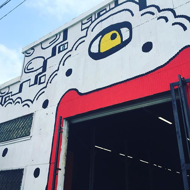 Outside mural I did for the Fabrik Expo. @genart @fabrikworld