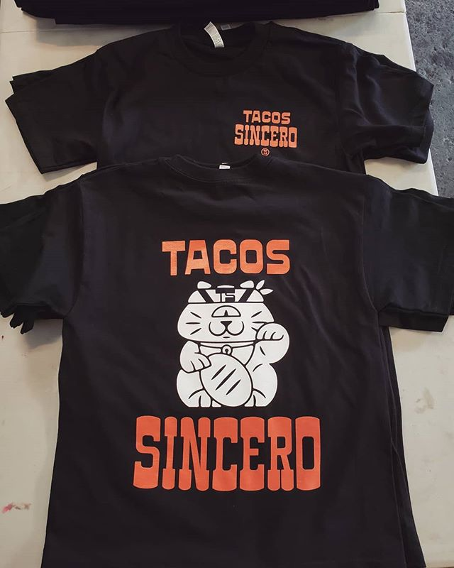 Merch for #ElChinoLatino @tacossincero #screenprinting #westoakland #oakland #local #revoltsilkscreen #supportlocal #silkscreen #plastisol #localeconomy