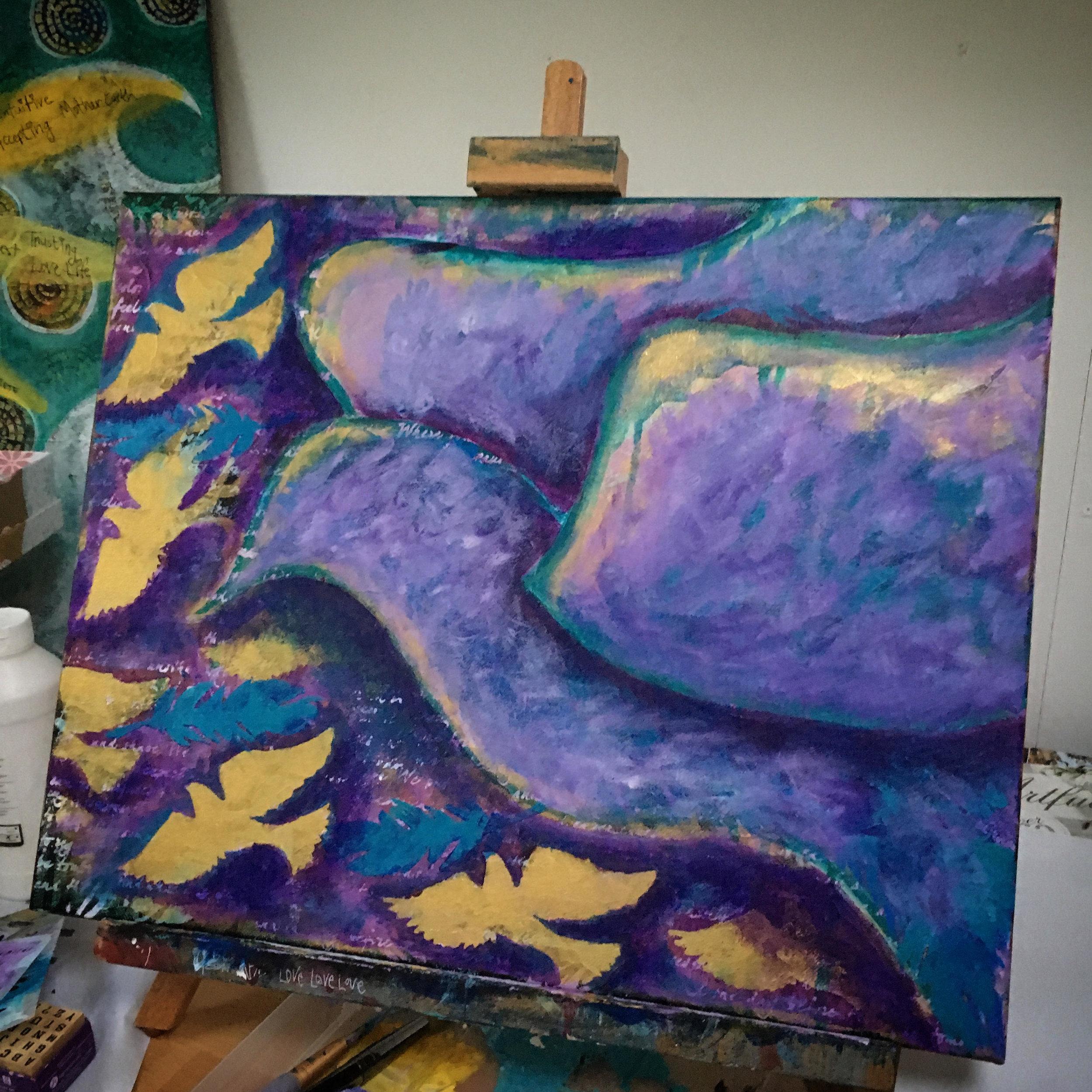 creative art meditations - freedom birds - artist desiree east