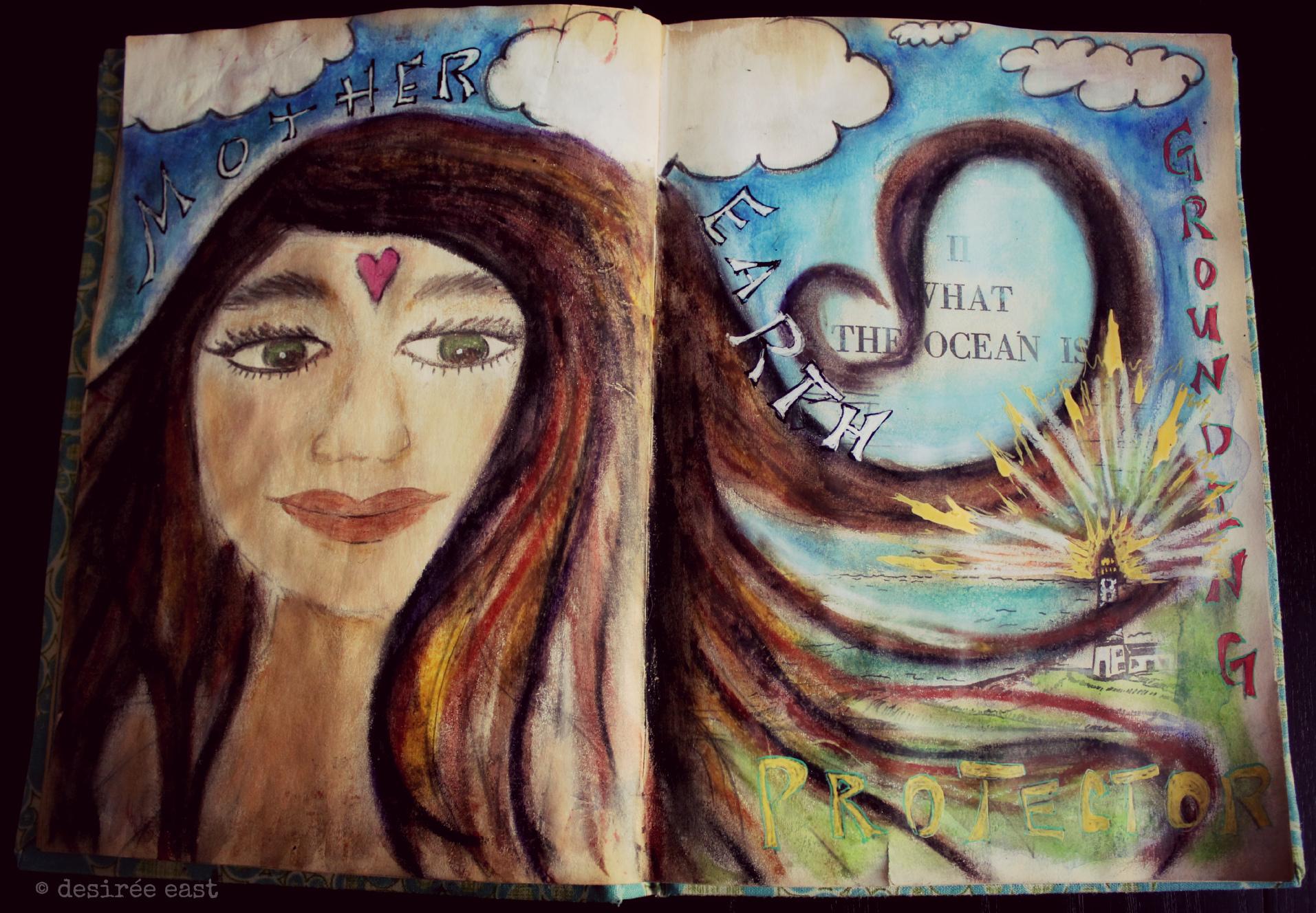 creative art meditations - sketchbook by artist desiree east