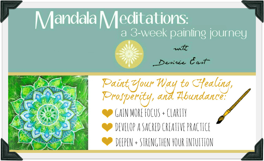 mandala painting meditations online art class with transformational creativity coach desiree east