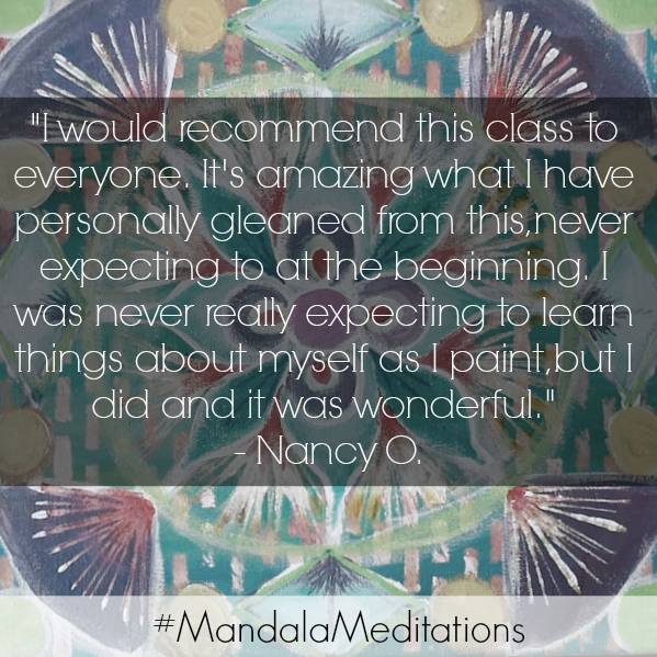 testimonials mandala meditations painting program with transformational creativity coach desiree east