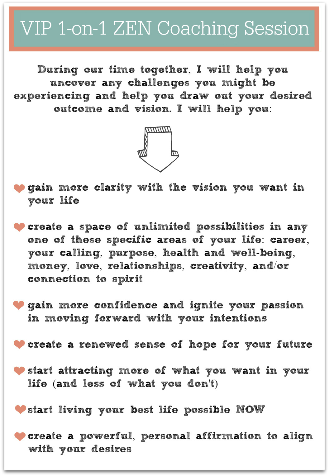 transformational coaching sessions with creativity coach desiree east