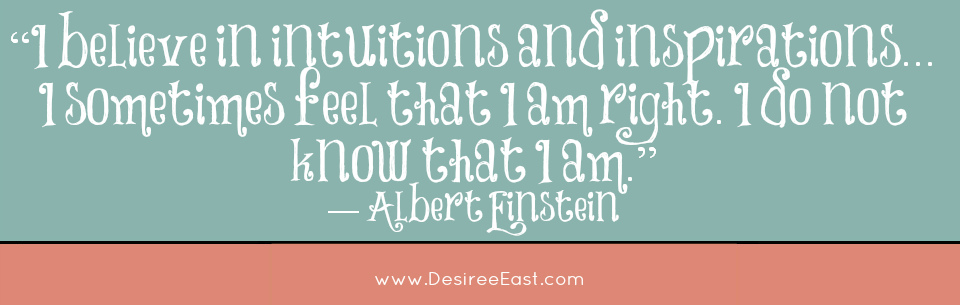 einstein quote - intuition