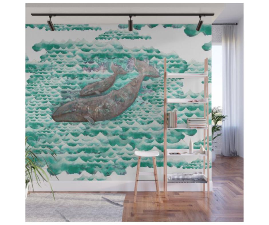 shop ocean art - whale designs by artist desiree east