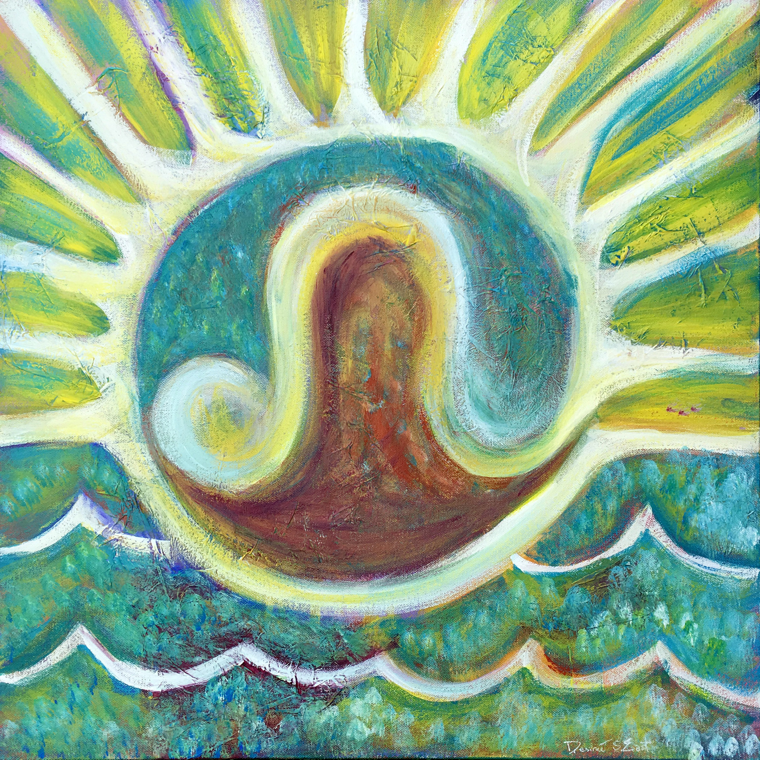 leo fire sun waves by desiree east.jpg