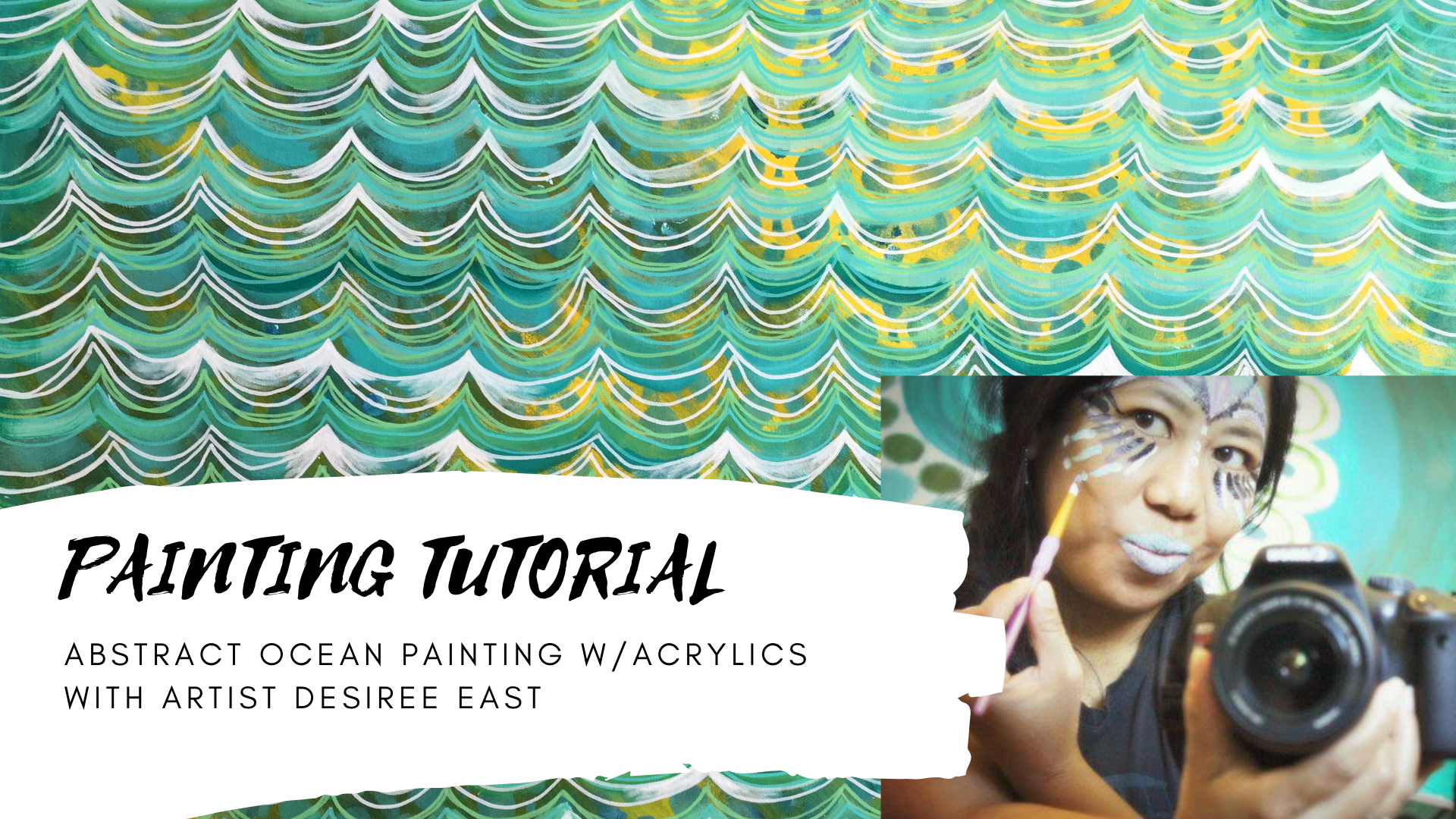 painting tutorial abstract ocean art painting with acrylics painting lesson by artist and creativity coach desiree east