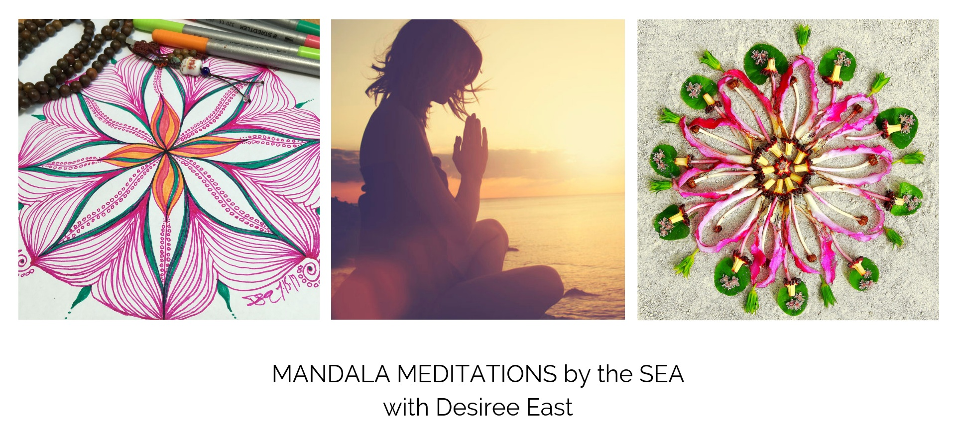 women's creativity circle - ventura - california - mandala meditations by the sea with artist - creativity coach desiree east