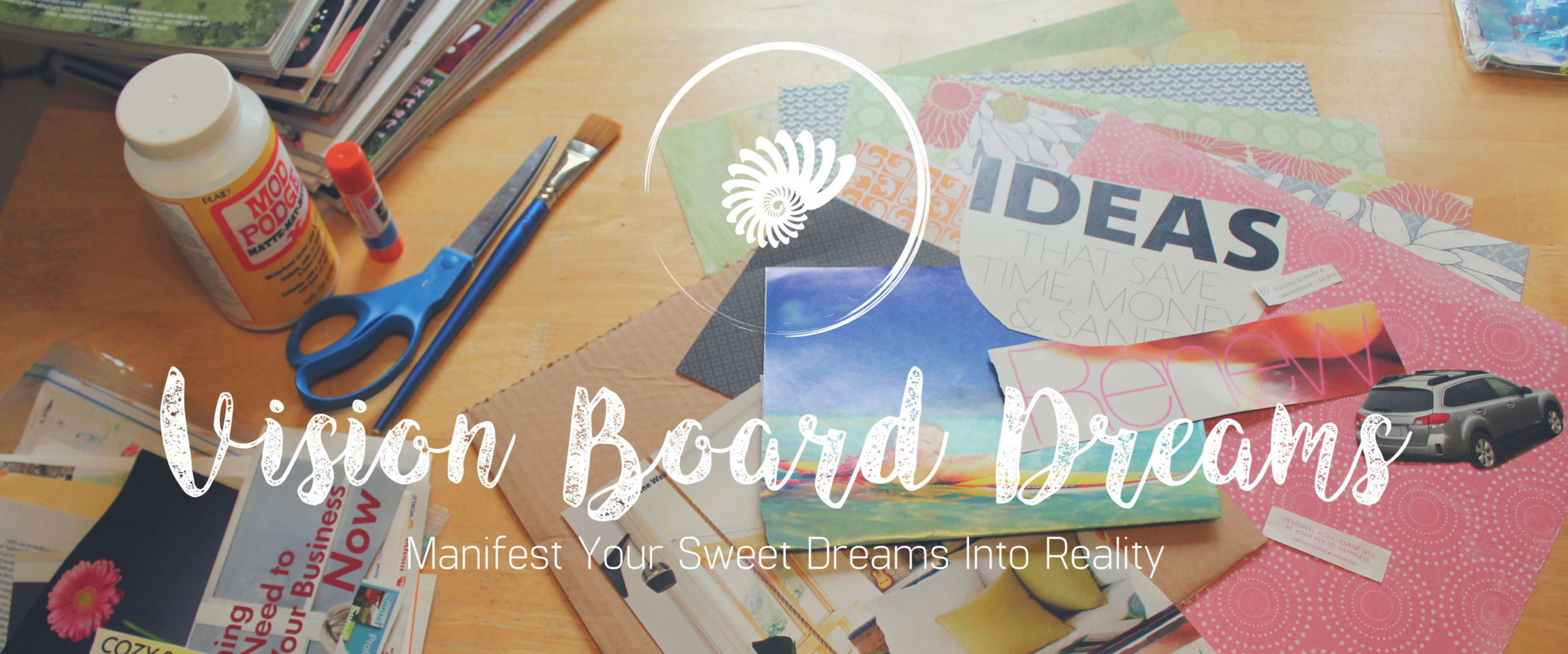 vision board dreams workshop with artist and creativity coach desiree east