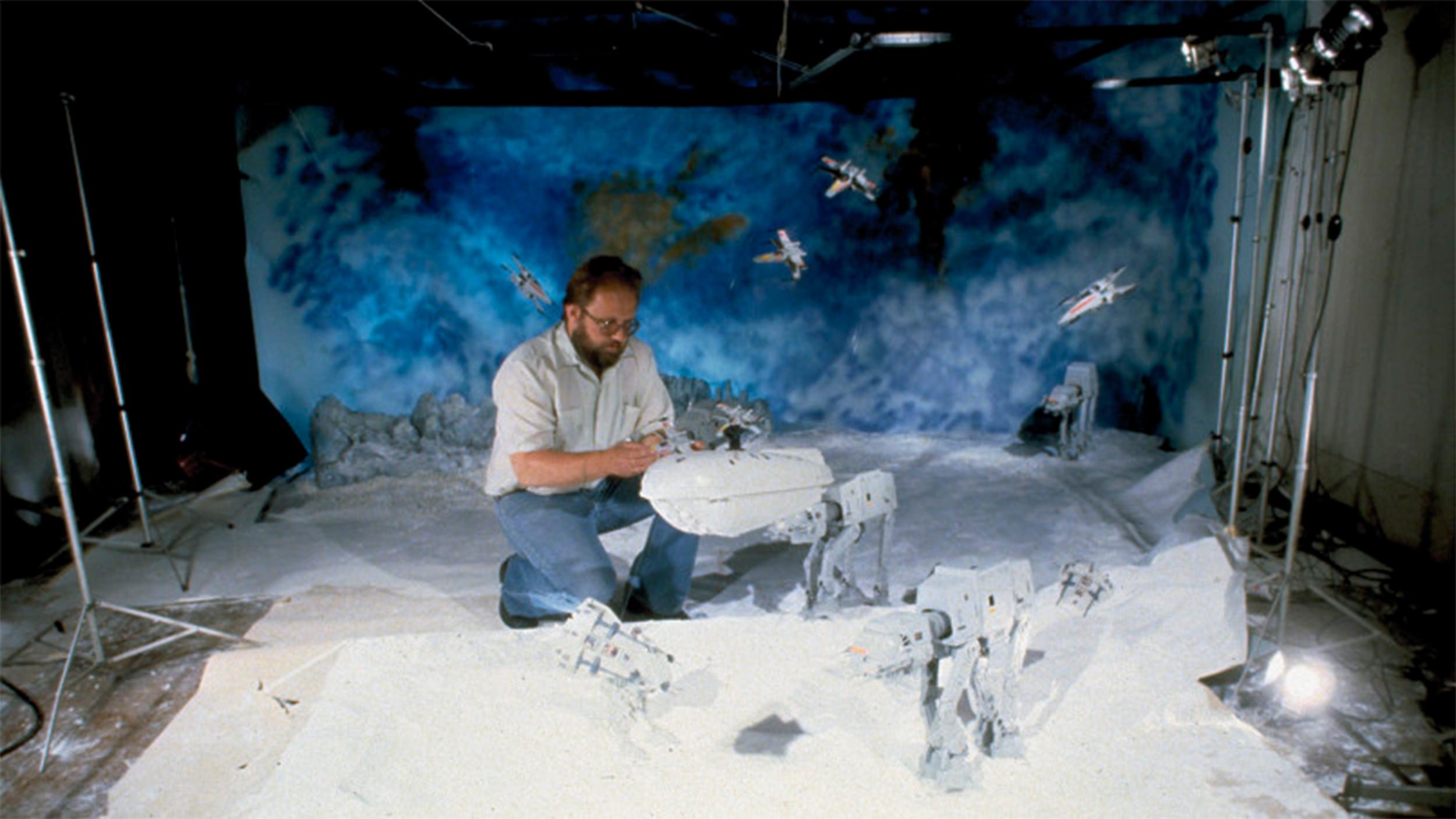 Kim Simmons at work at his Cincinnati, OH studio in late '70s