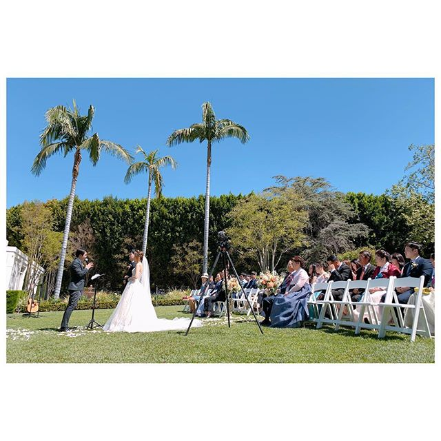 Beautiful sunny day here in socal. It was too hot that my camera overheated during the ceremony and shut itself down a couple times. I have been using Sony's for over 4 years and this happened for the first time. #weddingvideography