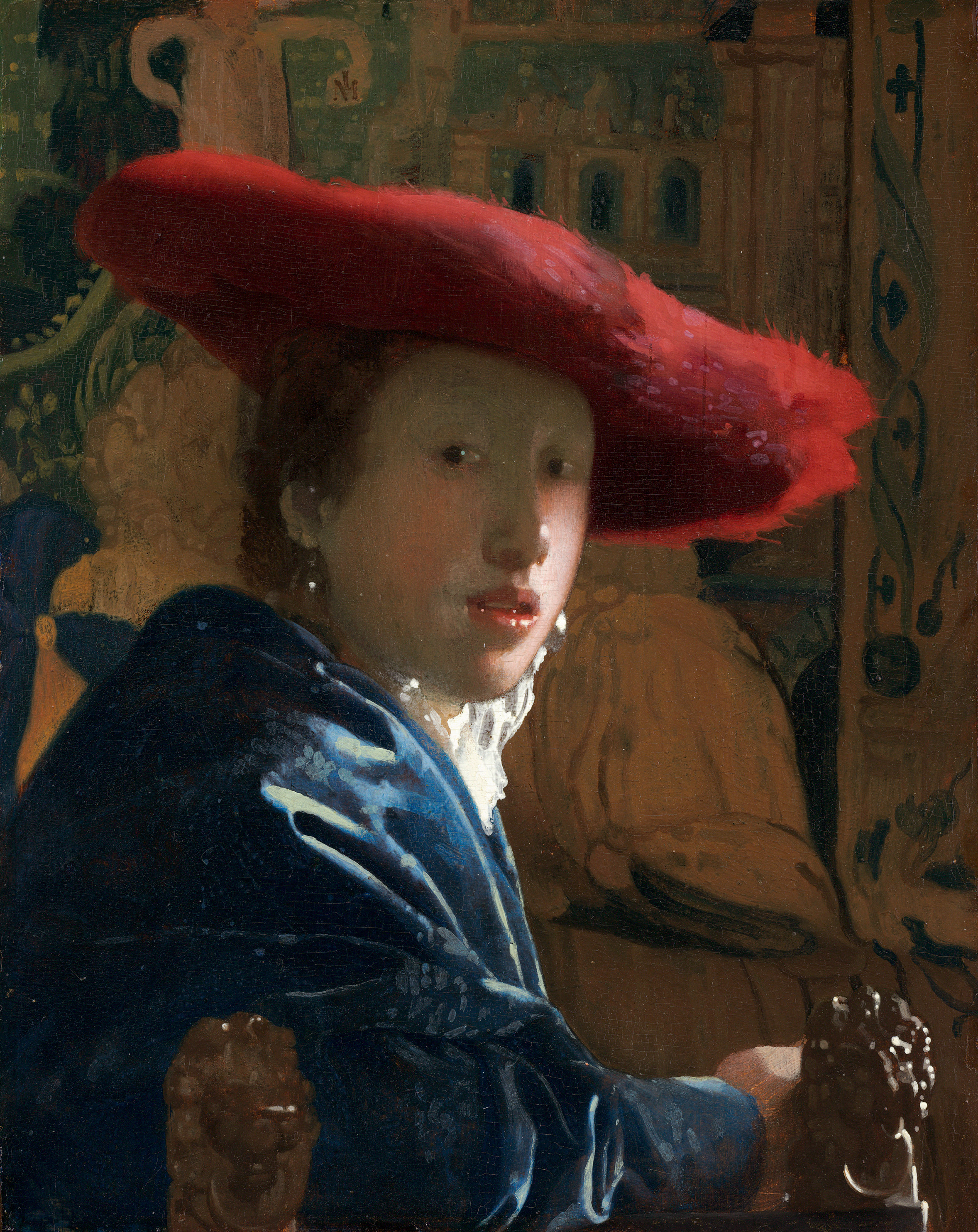 Girl with a Red Hat, Johannes Vermeer, 1665