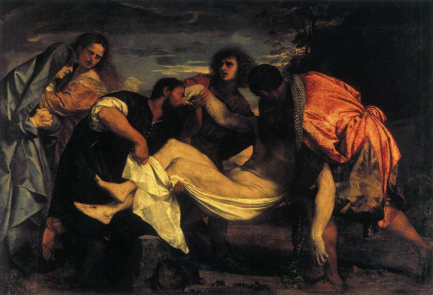 """The Entombment of Christ,"" Titian,  1520"