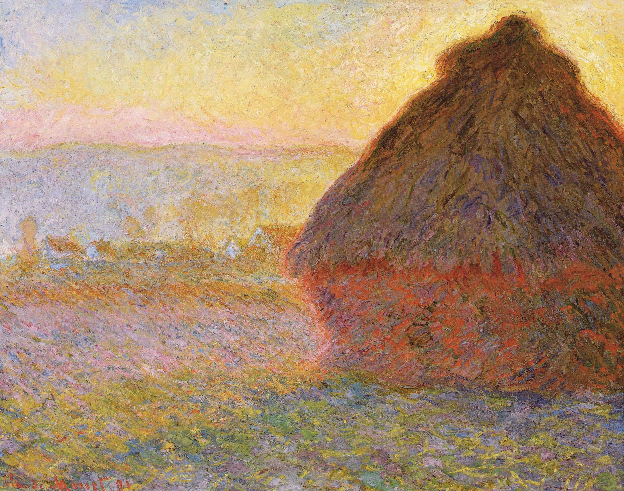 Claude Monet, Haystacks, (Sunset)  1890-1891.