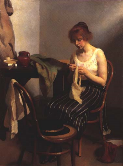 RH Ives Gammell, The Seamstress, 1923.