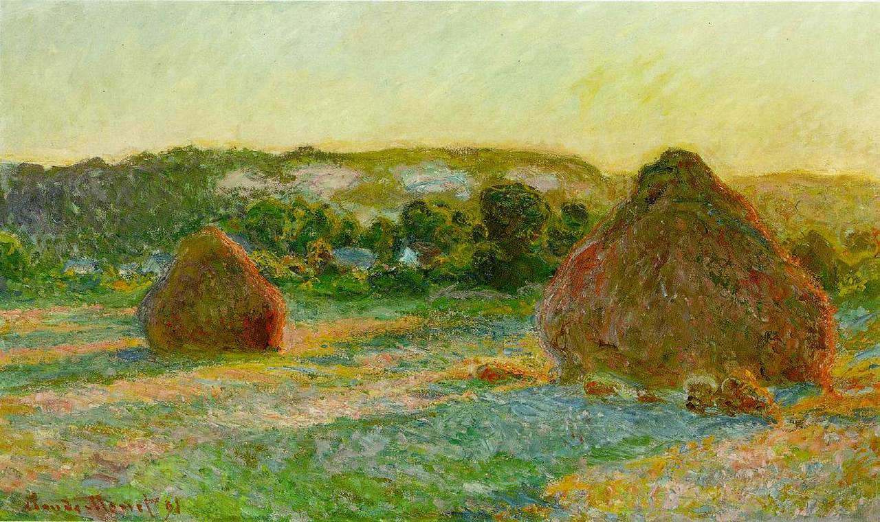 Claude Monet, Wheatstacks (End of Summer) 1890-1891