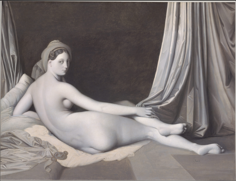 Jean Auguste Dominique Ingres,  Odalisque in Grisaille , ca. 1824–34