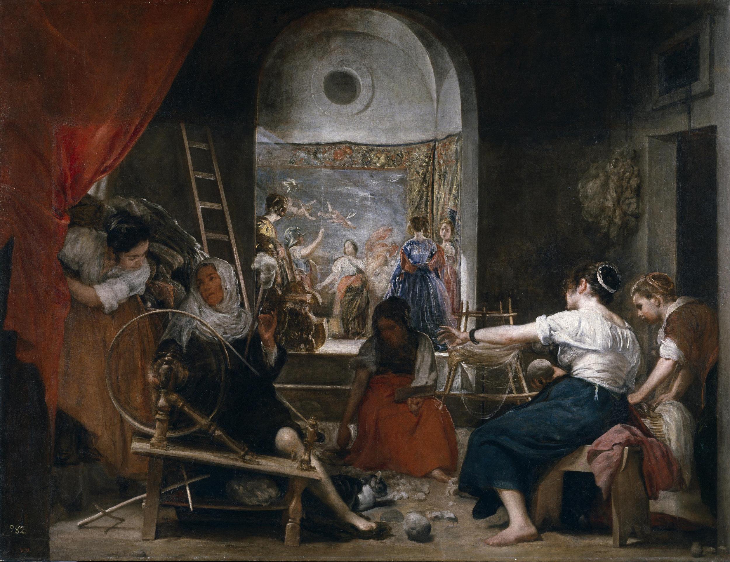 Velazquez,  Las Hilanderas .1657