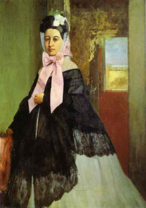 """Degas, """"Portrait de Marguerite Degas,"""" 1859."""