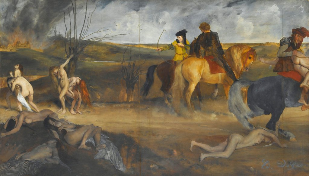 Degas,  Scene of War in the Middle Ages