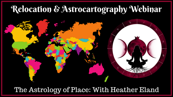 Want to find the BEST location to live, travel and THRIVE? We have a webinar for that! - Astrology can show us the most positive locations to improve health, finances, love, career success AND MORE! This 5.5 hour webinar will teach you everything you need to know in to find the best place based on your own personal astrology!Less than one week left to order this webinar at the current price! $10 off until September 1st! Order now!