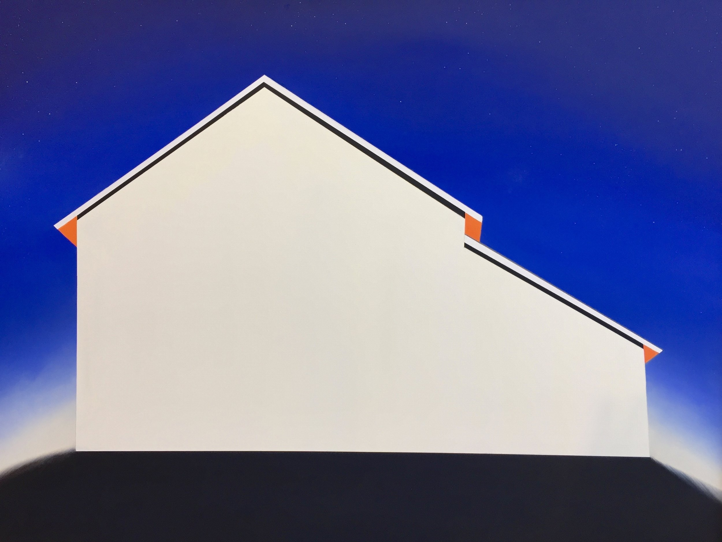 """Starry Night Barn"" 30x40 Oil on canvas"