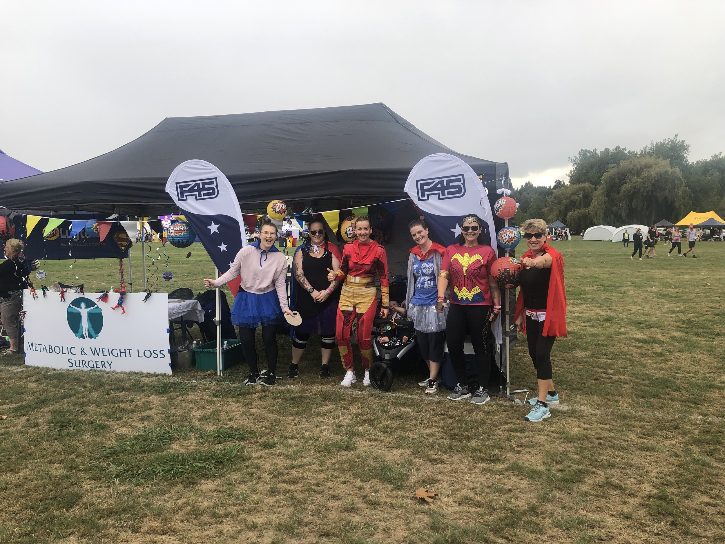 The WLS and F45 team at Relay For Life 2019