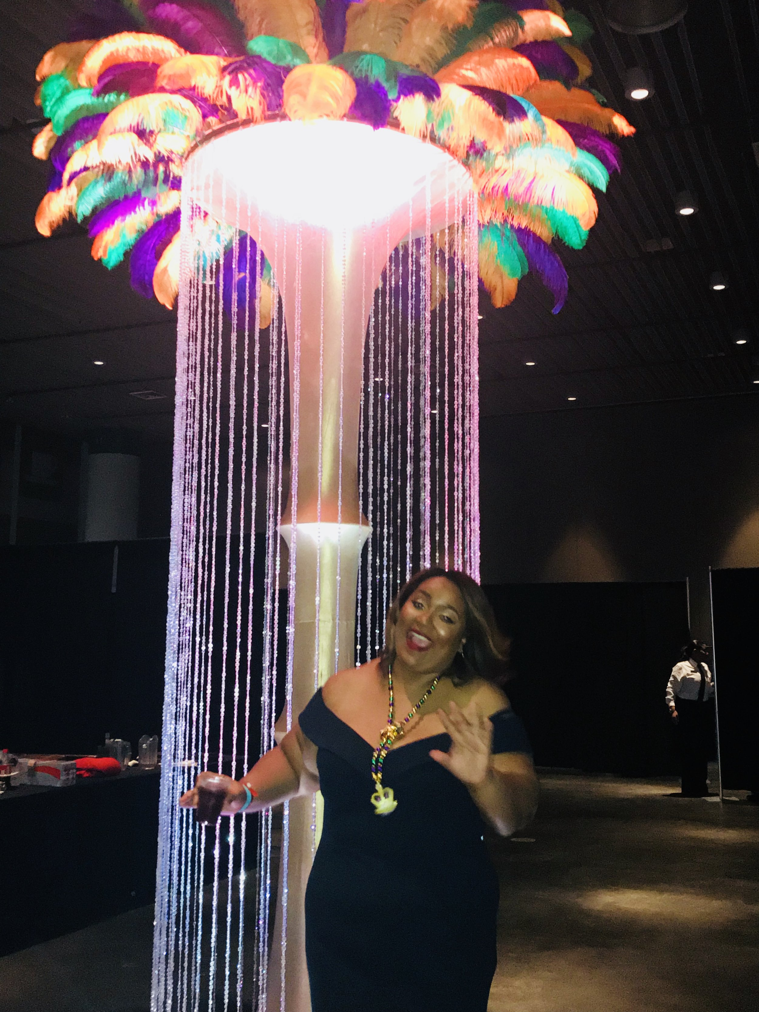The year kicked off with my first ride in a Mardi Gras parade with the Krewe of Nyx! This is me dancing during our ball, Nyx Myx. The JOY!