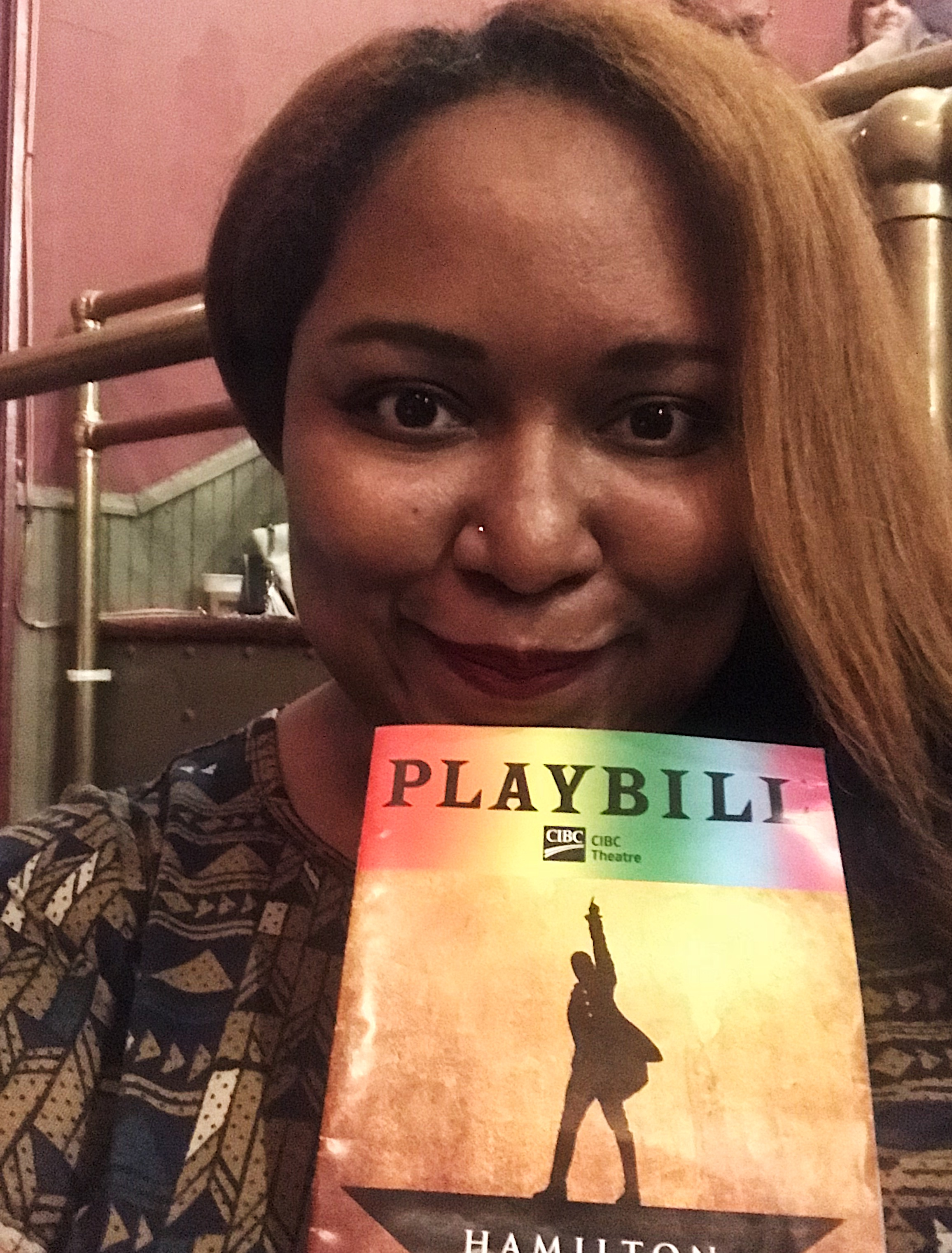 MAJOR BUCKET LIST ITEM COMPLETED: Finally saw Hamilton! Treated myself to a phenomenal show at the CIBC Theater in Chicago the night before speaking at Bossed Up Bootcamp , and it was the perfect way to mix business and pleasure.