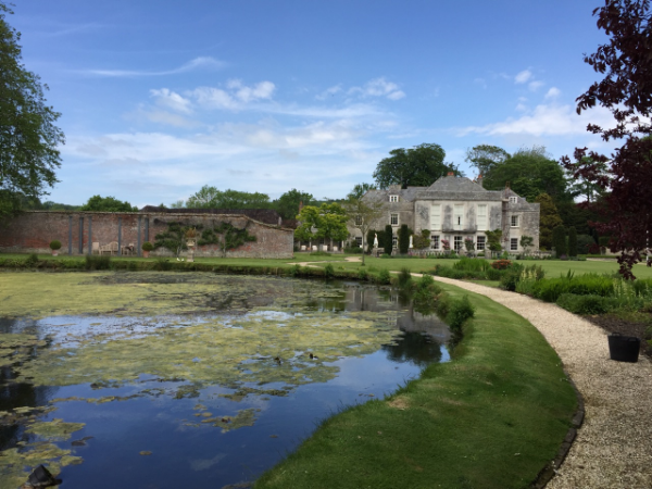 The grounds of the beautiful Westbrook house in Dorset, where the Dins stayed for a night