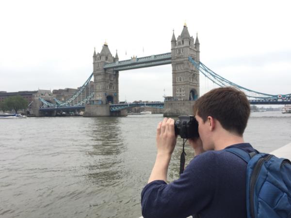 Matt taking a picture of Tower Bridge