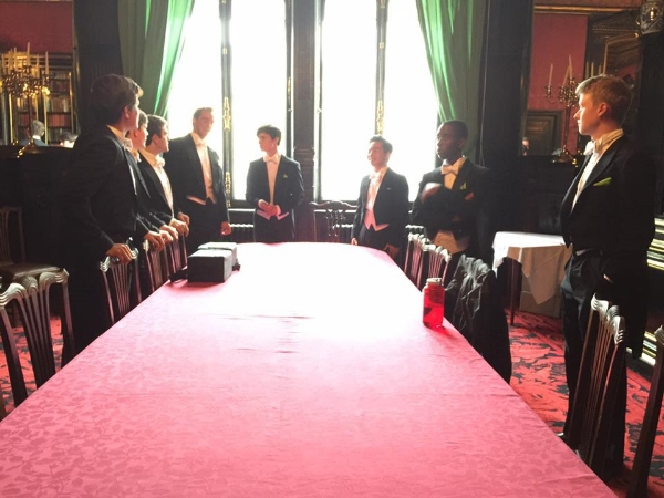 Getting ready for our gig in the Travellers Club on the Champs Élysées