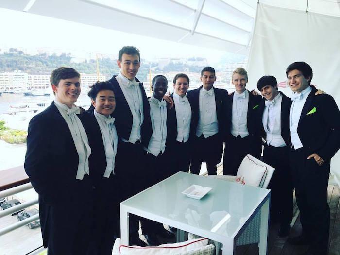 Posing at the Monaco Yacht Club