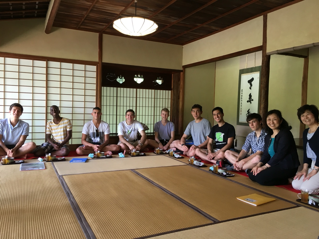 At a traditional tea ceremony in Nara, a welcome air-conditioned respite from the humidity