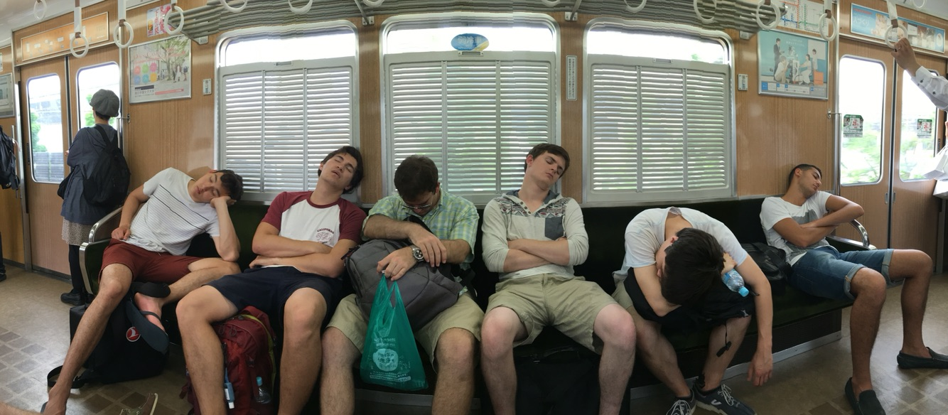Some very tired Dins in transit